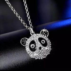 Rhinestone Panda Necklace